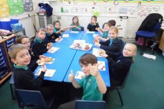 Breakfast gets space-aged at Cummersdale Primary School, Carlisle