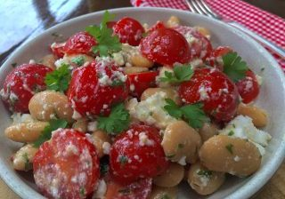 Butterbean, Tomato and Feta Salad_1