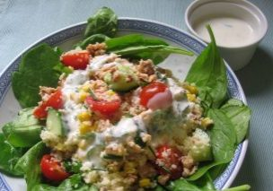 Super Salmon Salad with mega minty dressing_1
